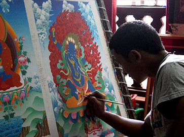 Experience Thangka Paintings in person